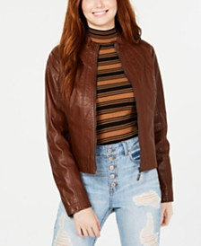 Jou Jou Juniors' Faux-Leather Jacket