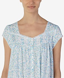 Eileen West Waltz Floral-Print Nightgown
