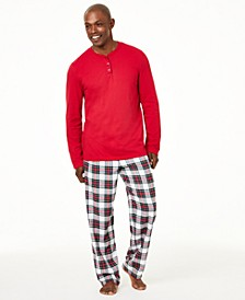 Matching Men's Mix It Stewart Plaid Pajama Set, Created For Macy's