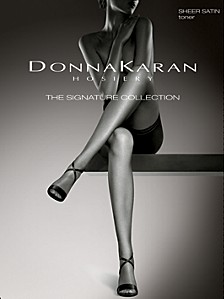 Women's Signature Satin Sheer Pantyhose with Restore Technology™ D0B109