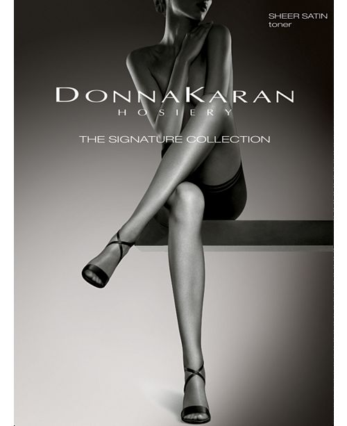 Donna Karan Women's Signature Satin Sheer Pantyhose with Restore Technology™ D0B109