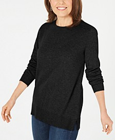 Plush Front-Seam Sweater, Created for Macy's