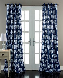 "Elephant Parade Room Darkening 84""x52"" Window Curtain Set"