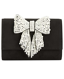 I.N.C. Maraa Pearl Bow Clutch, Created for Macy's