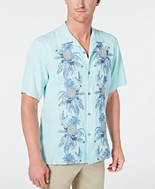 Men's Pineapple Row Embroidered Camp Collar Shirt