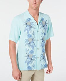 Tommy Bahama Men's Pineapple Row Embroidered Camp Collar Shirt