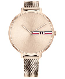 Women's Rose Gold-Tone Stainless Steel Mesh Bracelet Watch 38mm