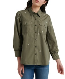 Lucky Brand Embroidered Utility Shirt