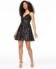 Juniors' Stretch Sequin Dress