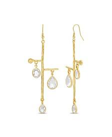 Women's Stick Rhinestone Dangle Drop Earrings