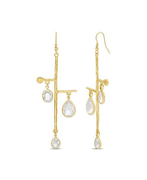 Catherine Malandrino Women's Stick Rhinestone Dangle Drop Earrings