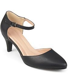Journee Collection Women's Comfort Bettie Heels