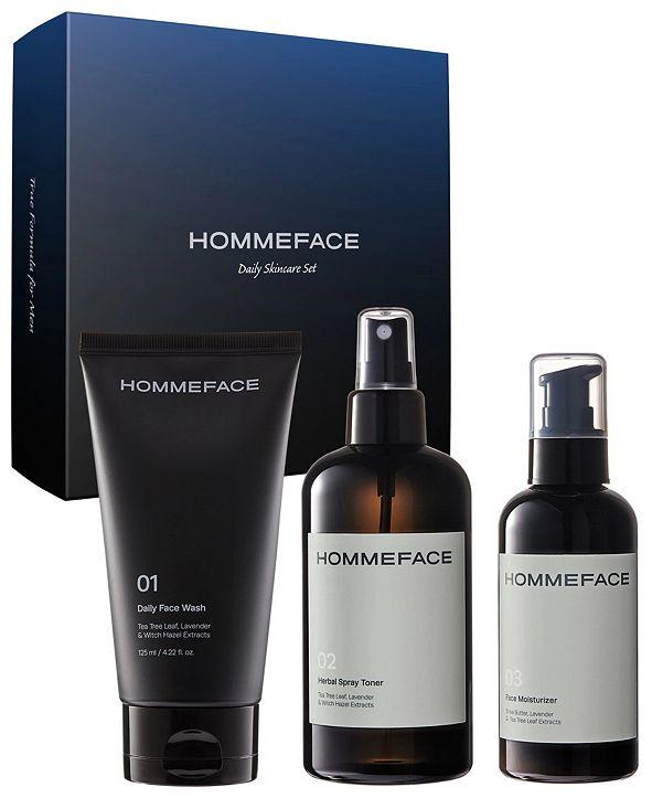 HOMMEFACE Daily Trio 3-Step Skincare Kit for Men