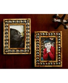"St. Croix KINDWER Set of 2 Horn and Button 4"" x 6"" Photo Frames"