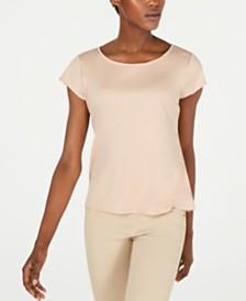 Eileen Fisher Cap-Sleeve Tencel T-Shirt, Regular & Petite