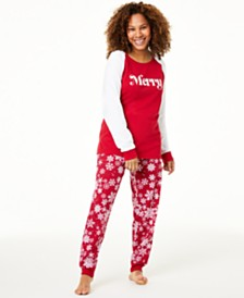 Matching Family Pajamas Women's Merry Pajama Set, Created For Macy's