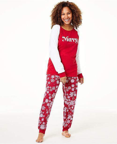 Family Pajamas Matching Women's Merry Pajama Set, Created For Macy's
