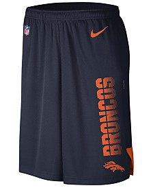 Nike Men's Denver Broncos Player Knit Breathe Shorts