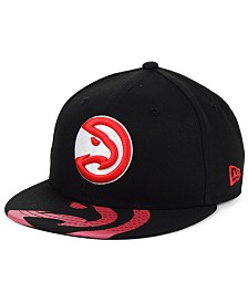 New Era Big Boys Atlanta Hawks Screen 9FIFTY Adjustable Cap