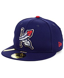 Kinston Indians MiLB 100TH Anniversary Patch 59FIFTY-FITTED Cap