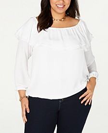 Plus Size Ruffled Off-The-Shoulder Top