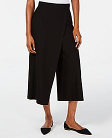 Cropped Faux-Wrap Pants
