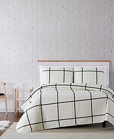 Kurt Windowpane Twin XL Quilt Set