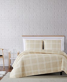 Leon Plaid Twin XL Quilt Set