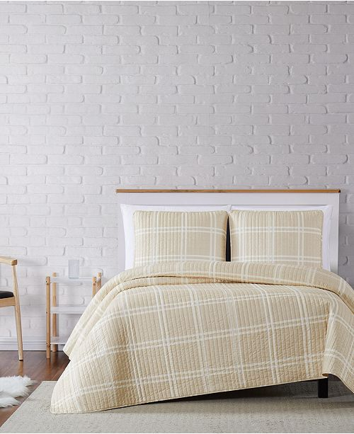 Truly Soft Leon Plaid Full/Queen Quilt Set