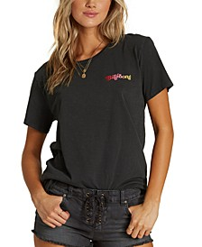 Juniors' Cotton She's A Rainbow Graphic T-Shirt