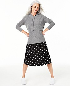 Cashmere Thermal Hoodie Sweater, Regular & Petite Sizes, Created for Macy's