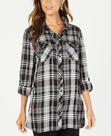 Style & Co Plaid Tunic, Created for Macy's
