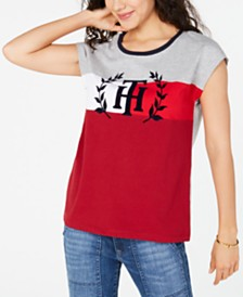 Tommy Hilfiger Dolman-Sleeve Logo T-Shirt