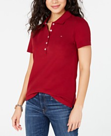 Tommy Hilfiger Solid 5-Button Polo Shirt