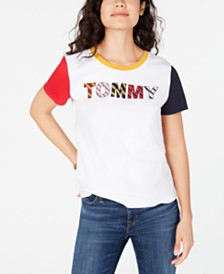 Tommy Hilfiger Striped Letters T-Shirt