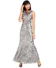 Calvin Klein Sequined Mermaid Gown