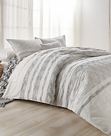 DKNY Pure Woven Stripe Full/Queen Duvet