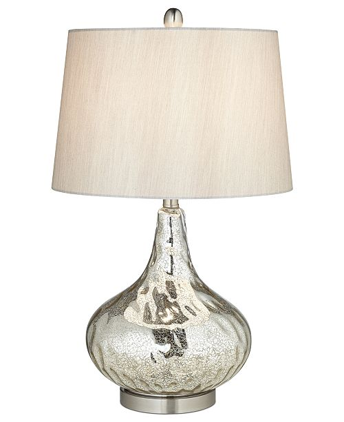 Kathy Ireland Pacific Coast Mercuro Glass Table Lamp