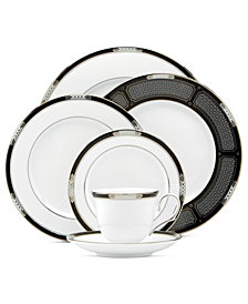 Lenox Dinnerware, Hancock Platinum White Collection