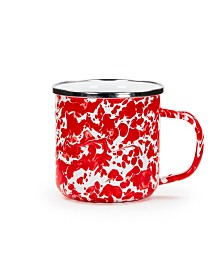 Golden Rabbit Red Swirl Enamelware Collection Mug, 12oz