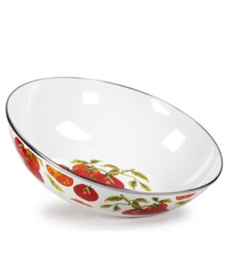 Tomatoes Enamelware Collection 5 Quart Serving Bowl