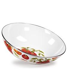 Golden Rabbit Tomatoes Enamelware Collection 5 Quart Serving Bowl