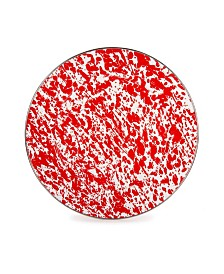 """Golden Rabbit Red Swirl Enamelware Collection 12.5"""" Charger Plate"""