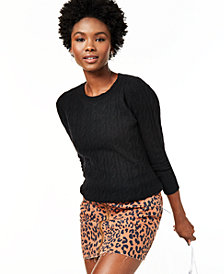 Charter Club Cable-Knit Cashmere Sweater, Regular & Petite Sizes, Created For Macy's