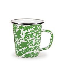 Green Swirl Enamelware Collection Latte Mug, 16oz