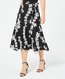 Petites Floral-Print Midi Skirt, Created for Macy's