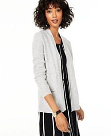 Charter Club Cashmere Pocket Cardigan, Created for Macy's