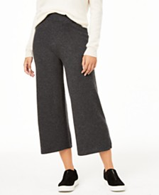 Charter Club Cashmere Culotte Pants, Regular & Petite, Created for Macy's