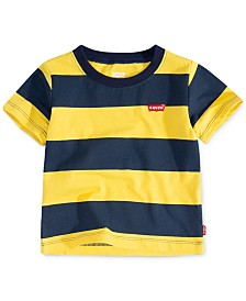 Levi's® Baby Boys Striped Cotton T-Shirt