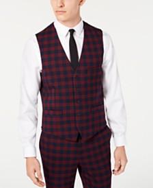 I.N.C. Men's Slim-Fit Tartan Vest, Created for Macy's